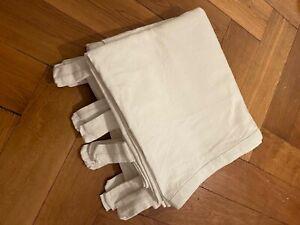 IKEA LENDA 2 Gardinen 140x250cm weiß, frisch gewaschen gelegt, ohne Raffhalter