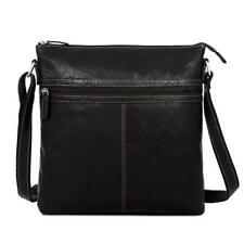Jack Georges Voyager Large City Crossbody Bag Black 7299 BLK