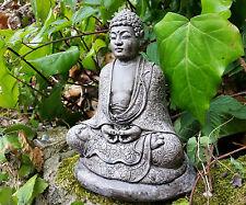 BUDDHA GARDEN ORNAMENT STONE CAST STATUE HAND MADE patio statue budha rockery