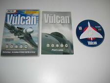 RAF VULCAN Pc Cd Rom Add-On Flight Simulator 2002 2004 or X FS2002 FS2004 FSX
