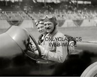 1918 LOUIS CHEVROLET AND RIDING MECHANIC IN FRONTENAC AUTO RACING PHOTO INDY 500