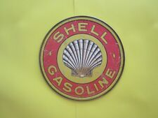 tin metal gasoline service station man cave advertising decor gas oil shell