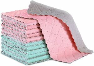 Kitchen Dish Cloths Rags Microfiber Cleaning Cloth Towels 22 Pack Multi Colored