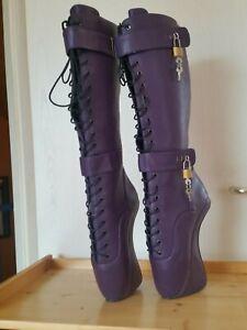 Extrem Ballett Boots , Gr. 41 , Curved Heel , 20 cm , Lila ,