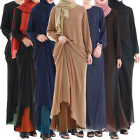 Ramadan Abaya Women Jilbab Muslim Arab Kaftan Long Maxi Dress Dubai Islamic Robe