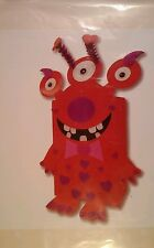 Monster Mailbox Peel and Stick Foam Craft Kit Googly Eyes New card box