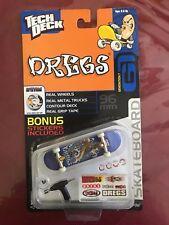 Rare Tech Deck Finger board Skateboard Generation 6 Dregs Spitfire wheels