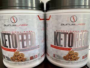 Purus Labs KETOFEED MCT Keto MRP 1.3lb SAMOA CHOCOLATE CREAM DUAL PACK !