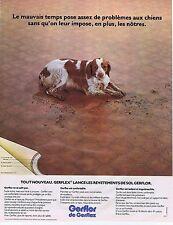 PUBLICITE ADVERTISING 045 1974 GERFLEX  revetements de sol  gerflor