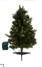"""Bethlehem Lights 30"""" Green Stake Tree with 2-in-1 LED LIGHTS with Remote"""
