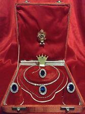 LUXURY SAPPHIRE & DIAMOND JEWELRY SET PRINCESS DIANA ROYAL MEMORABILIA