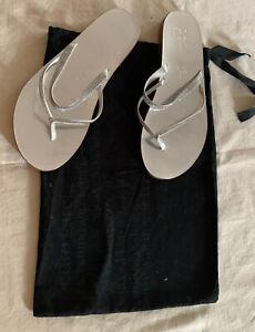 Pedro Garcia Satin Crystal Guila Swavrosky Sandals Size 38/ US 8