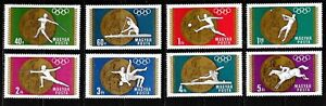 1969 Hungary full set of 8 stamps Olympic medal winners in unmounted mint