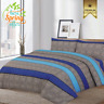 Blue Stripe Bedding Set-Duvet Cover with Pillow Case & Quilt Cover Fitted Sheet