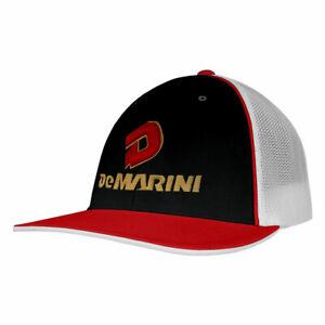 DeMarini Stacked D Baseball/Softball Trucker Hat - Black/Red/White - Sm/Med