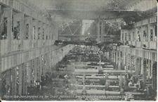 Postcard, North Gun Shop 110 TON Crane Moving 12LB Gun, NAVY YARD, Washington DC
