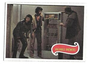 PLANET OF THE APES MOVIE CARD NO 22 VALUABLE ANSWERS TOPPS NRMINT+ 5065