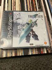 Final Fantasy Vii 7 Ps1 Playstation 1 Black Label 3 Disc Game