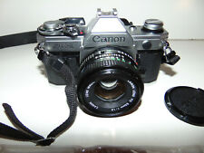 Canon Ae-1 35mm Slr Film Camera with Fd 50 mm 1.8 Lens & Speedlite 177A Flash