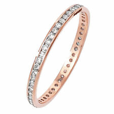 Unbranded Eternity Rose Gold Fine Rings