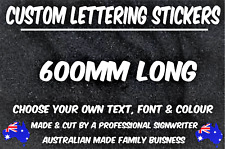 CUSTOM STICKER Decal - 600mm Long - Choose Your Text & Font -Vinyl Decal JDM CAR