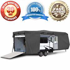 Weatherproof Travel Trailer Camper Storage Cover Fits 33'-35' Feet RV Motorhomes