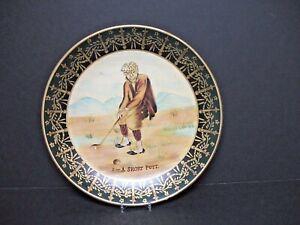 "Raymond Waites Collectible Decorative Plate ""A Short Putt"" 10"" Excellent Conditi"