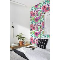 Non-Woven Wallpaper roll Flowers and Berries Colorful Floral Flowers Home Mural