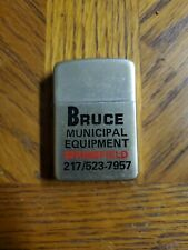 Vintage Lighter advertising BRUCE MUNICIPAL EQUIPMENT, Made in U.S.A NEVER USED