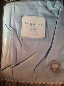 Living Textiles Bed Skirt, Blue & Grey Crib Skirt Standard Size