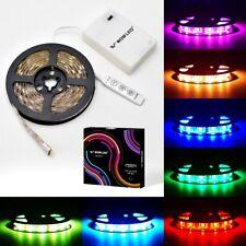 2M RGB LED Strip Light Multi-color Lamp Battery Powered Mood Light Car SUV Light