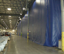 Warehouse Divider 1 Color Blue 14ft. W X 8ft. H Threaded Rod Kit Included