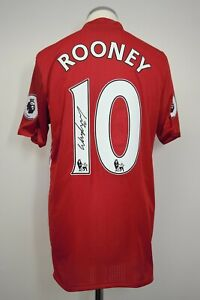 Manchester United SIGNED Player/Match Issue Shirt Size 7 ROONEY 10 2016/2017