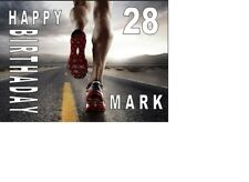 PERSONALISED JOGGING RUNNING MALE A5 BIRTHDAY CARD anyNAMEage GREETING OCCASION
