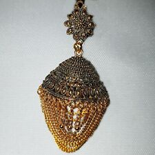 Ladies Indian Earrings Gold Dangle Jumka Jhumka Jhumki Drop Party Bollywood 1122