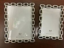 NEW Pottery Barn Silver Chain Link Picture Frame 8x10 Glass Table Top Wall NWT