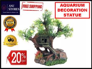 Aquarium Landscape Decor Resin Tree Stump Fish tank Statue Decoración acuario