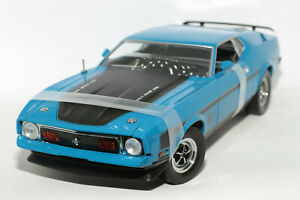 1:18 Ford Mustang Mach 1 (1971–1973)   blau   SunStar   Modellauto Musclecar