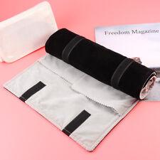 Velvet Jewellery Roll Holder Organizer Portable Travel Wrap Bag Jewelry Storage