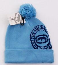 Ecko Unltd Blue Knit Cuff Pom Pom Beanie Skull Cap Men's One Size NWT