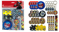 Transformers Party Supplies Favours 48 Pc MEGA VALUE FAVOUR PACK Genuine Lic
