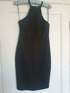 Ladies NEW Size 8 Black Bodycon Dress Fitted Sexy