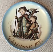 "Schmidt 1974 Christmas plate ""Guardian Angel"" Berta Hummel"