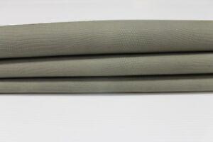 KHAKI GREEN REPTILE EMBOSSED vegetable tan Lambskin leather skin 6sqf #A3914
