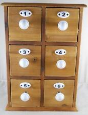 6 Drawer Apothecary Spice Chest Utility Cabinet Jewelry Chest Storage Organizer