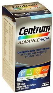 100 Centrum Advance 50+ A To Z Multivitamins Zinc Adult Formula Multi Vitamins