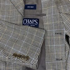 Chaps Mens Sports Coat Blazer Jacket 100% Silk 40 Short New With Tags
