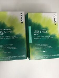 2-Starbucks Teavana Jade Citrus Mint Organic Green Tea Exp 03/2020