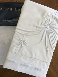 Ralph Lauren Islesboro Hillsboro Cream Embroidery King Sham cottage chic RV$215