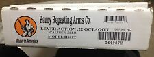 HENRY REPEATING ARMS 22 CAL OCTAGON RIFLE FACTORY BOX Only W/Protek Wrap Manual